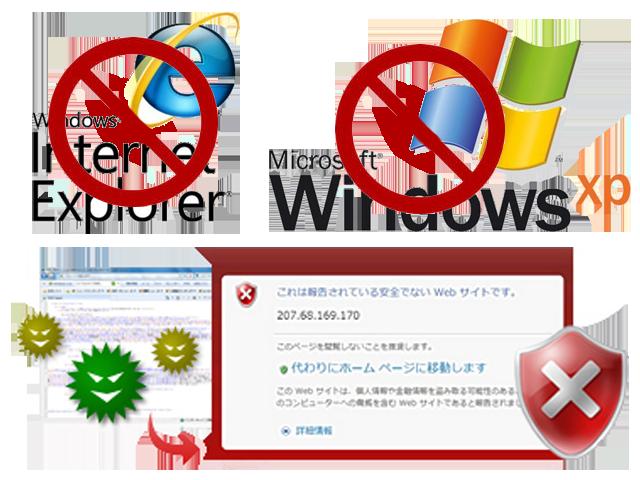 Internet Explorer攻撃される!ネット脅威